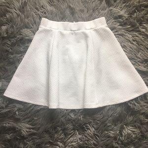 H&M white textured skater skirt